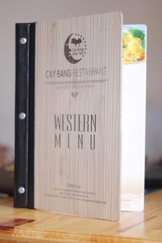 In menu đẹp cho nhà hàng quán ăn Việt