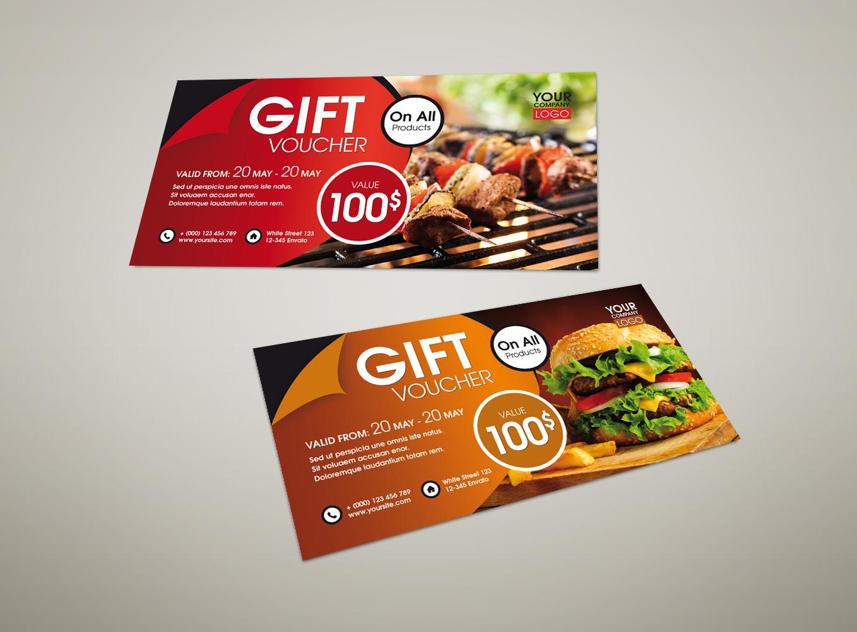 Voucher dạng gift card tặng khách hàng
