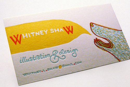 Mẫu card visit ấn tượng cho nhân viên thiết kế đồ họa
