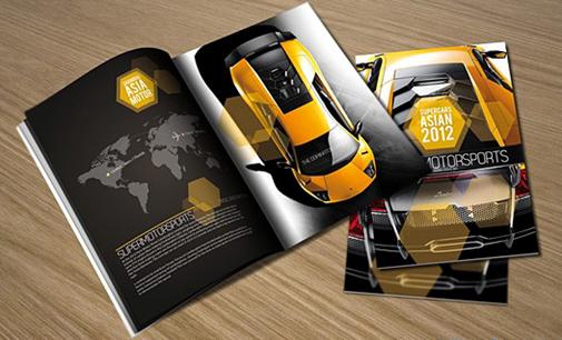 Mẫu catalog cao cấp cho hãng xe hơi