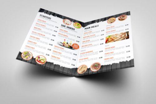 In menu đẹp cho nhà hàng khách sạn cao cấp