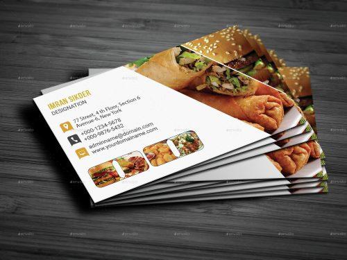 In card visit đẹp cho nhà hàng quán ăn