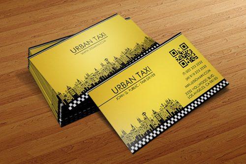 Card visit đẹp cho hãng taxi urban
