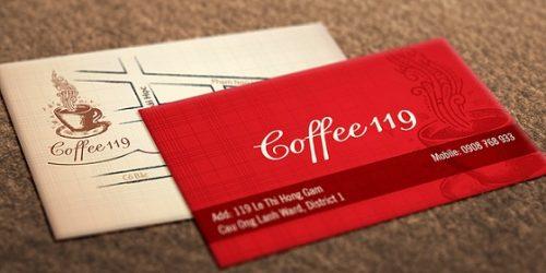 In card visit đẹp cho quán cafe