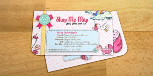 Card visit shop quần áo bầu