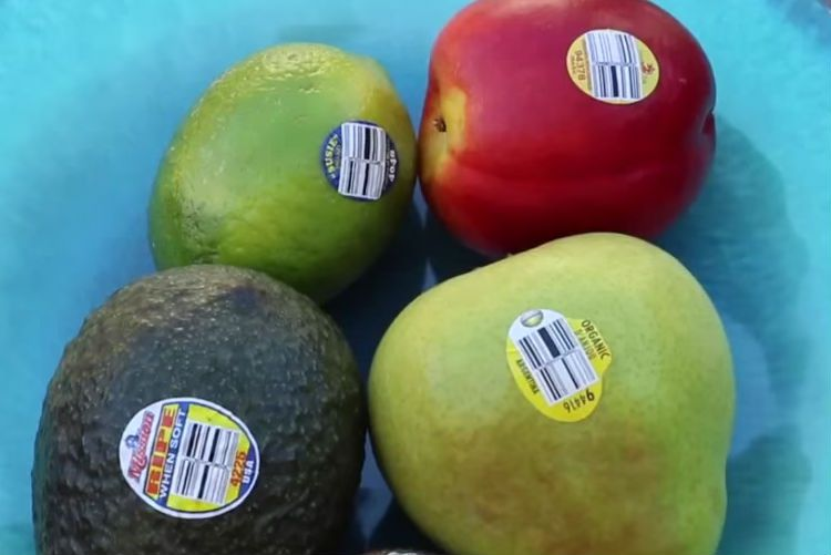 Tem dán hoa quả sạch giá rẻ