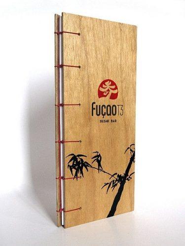 In menu bìa gỗ đẹp cho nhà hàng món ăn Nhật
