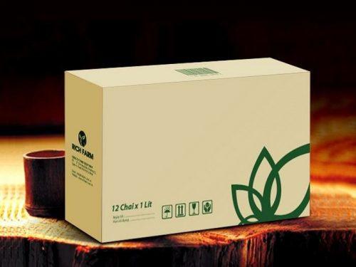 Mẫu vỏ hộp trà đơn giản và gây ấn tượng với khách hàng