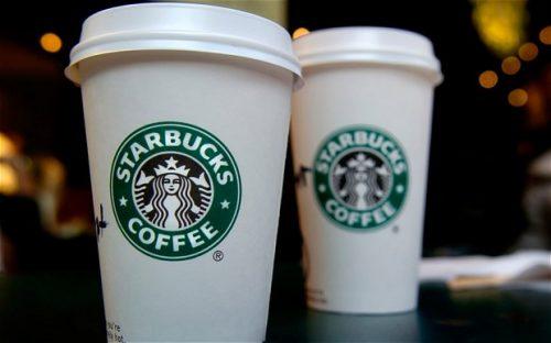 Tem nhãn cốc starbucks coffee