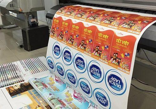 Xưởng in tem nhãn decal nhựa giá rẻ Hà Nội