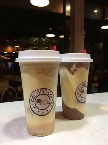 In tem nhãn decal, in logo dán cốc nhựa ly nhựa đựng trà sữa, cafe, đồ uống