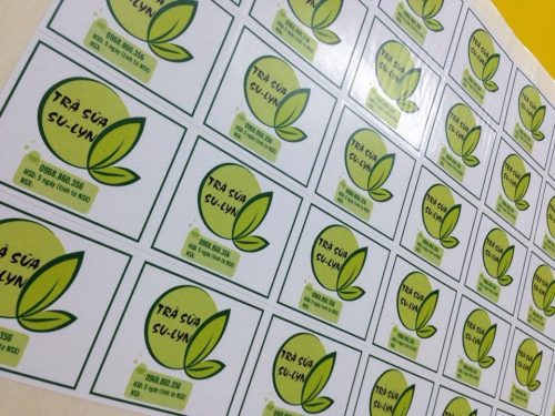 Mẫu tem dán thương hiệu trà sữa Su-Lyn