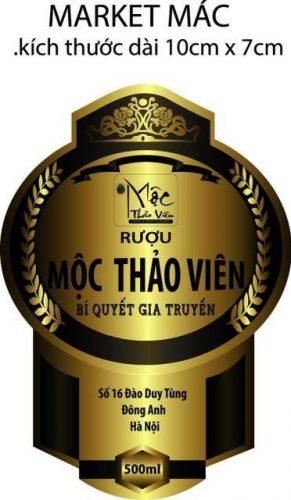 In nhãn rượu mộc thảo viên đẹp giá rẻ Hà Nội