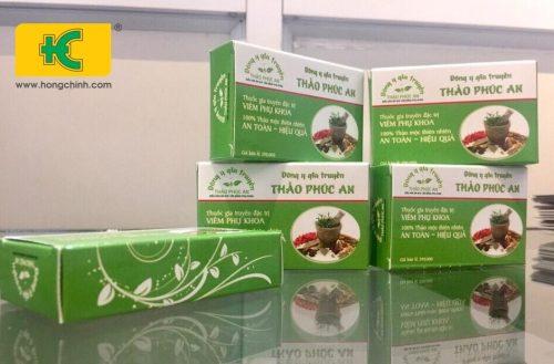 Vỏ hộp thuốc chữa viêm phụ khoa đông y đẹp