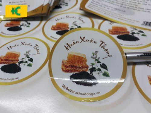 Mẫu tem dán hộp thuốc đông y Hoàn Xuân Thang