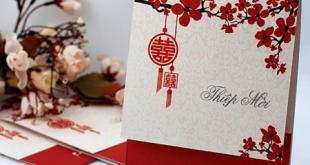 In thiệp cưới đẹp giá rẻ tại Hà Nội