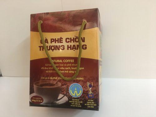 Mẫu hộp đựng cafe chồn ấn tượng với túi xách sang trọng