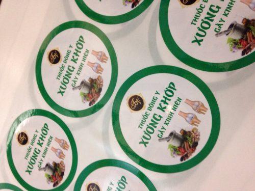 In tem decal nhựa đẹp giá rẻ cho ngành thuốc đông y