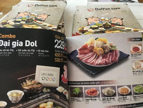In menu nhà hàng quán nướng Hàn Quốc đẹp