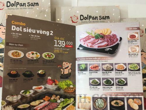 mẫu menu nhà hàng quán nướng Hàn Quốc bìa bồi đẹp
