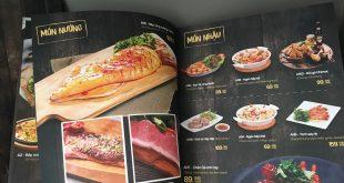 in menu bìa bồi gỗ cứng sang trọng bền đẹp