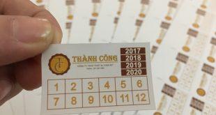 In tem bảo hành giá rẻ chỉ từ 50đ/tem