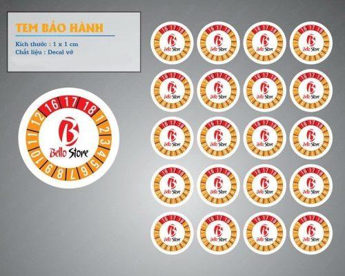in tem bảo hành đẹp giá rẻ tại Hà Nội