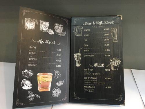 In menu trà sữa đẹp giá rẻ