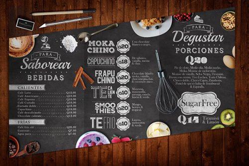 Mẫu menu quán cafe độc đáo ấn tượng