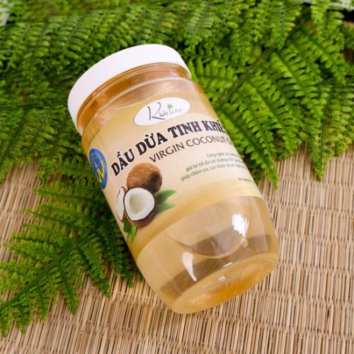 Mẫu tem nhãn tinh dầu dừa tinh khiết đẹp giá rẻ