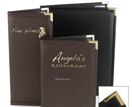 Mẫu menu bìa da cao cấp bền đẹp cho nhà hàng